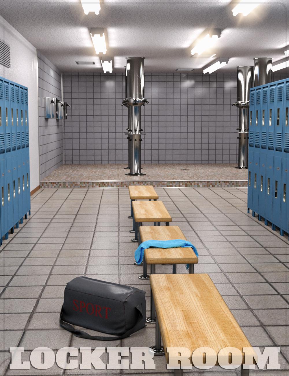 FG Locker Room by: Fugazi1968, 3D Models by Daz 3D