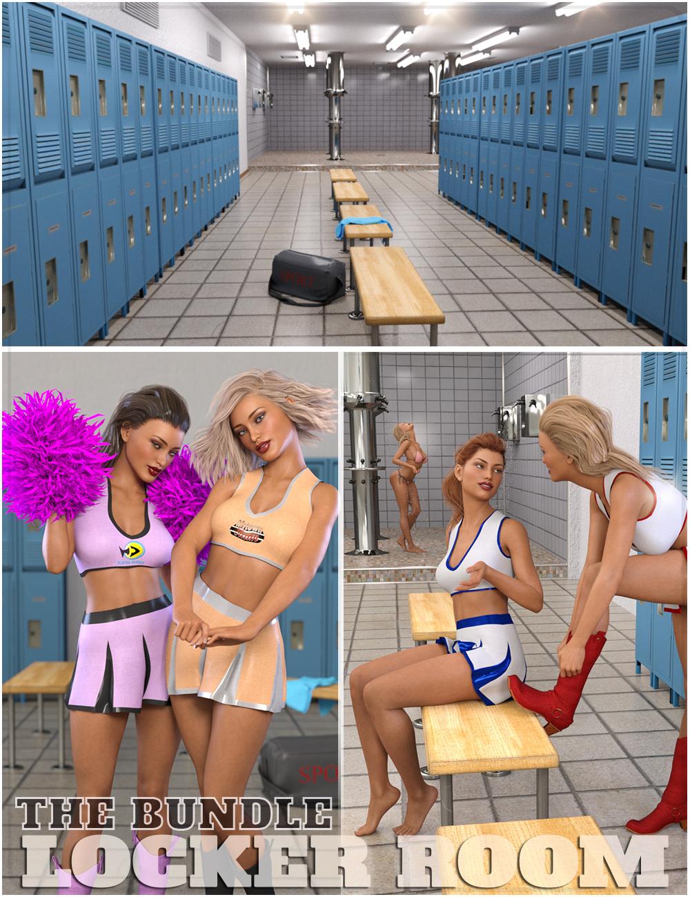 Locker Room Bundle by: ZeddicussFugazi1968, 3D Models by Daz 3D