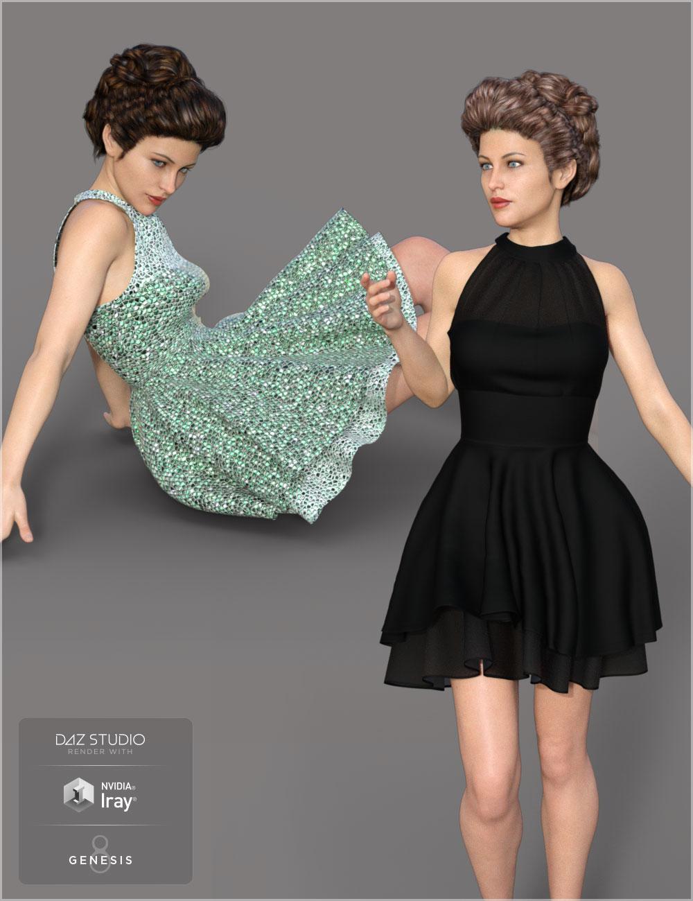 T-Skirt for Genesis 8 Female(s) by: Cute3D, 3D Models by Daz 3D