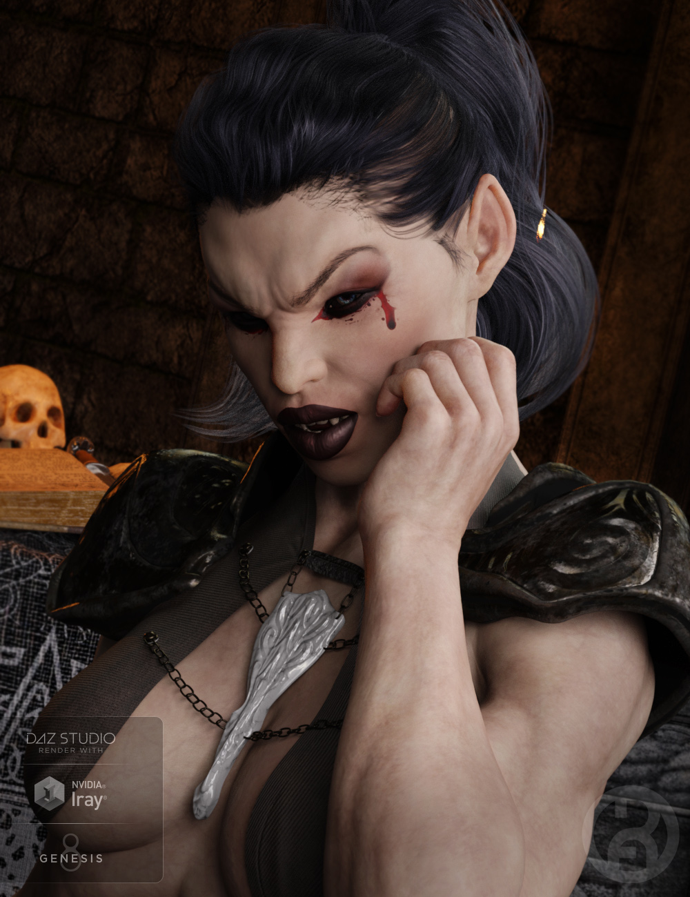 Vampyre for Genesis 8 Female by: RawArt, 3D Models by Daz 3D