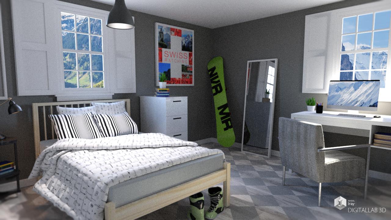 Swiss Room by: Digitallab3D, 3D Models by Daz 3D