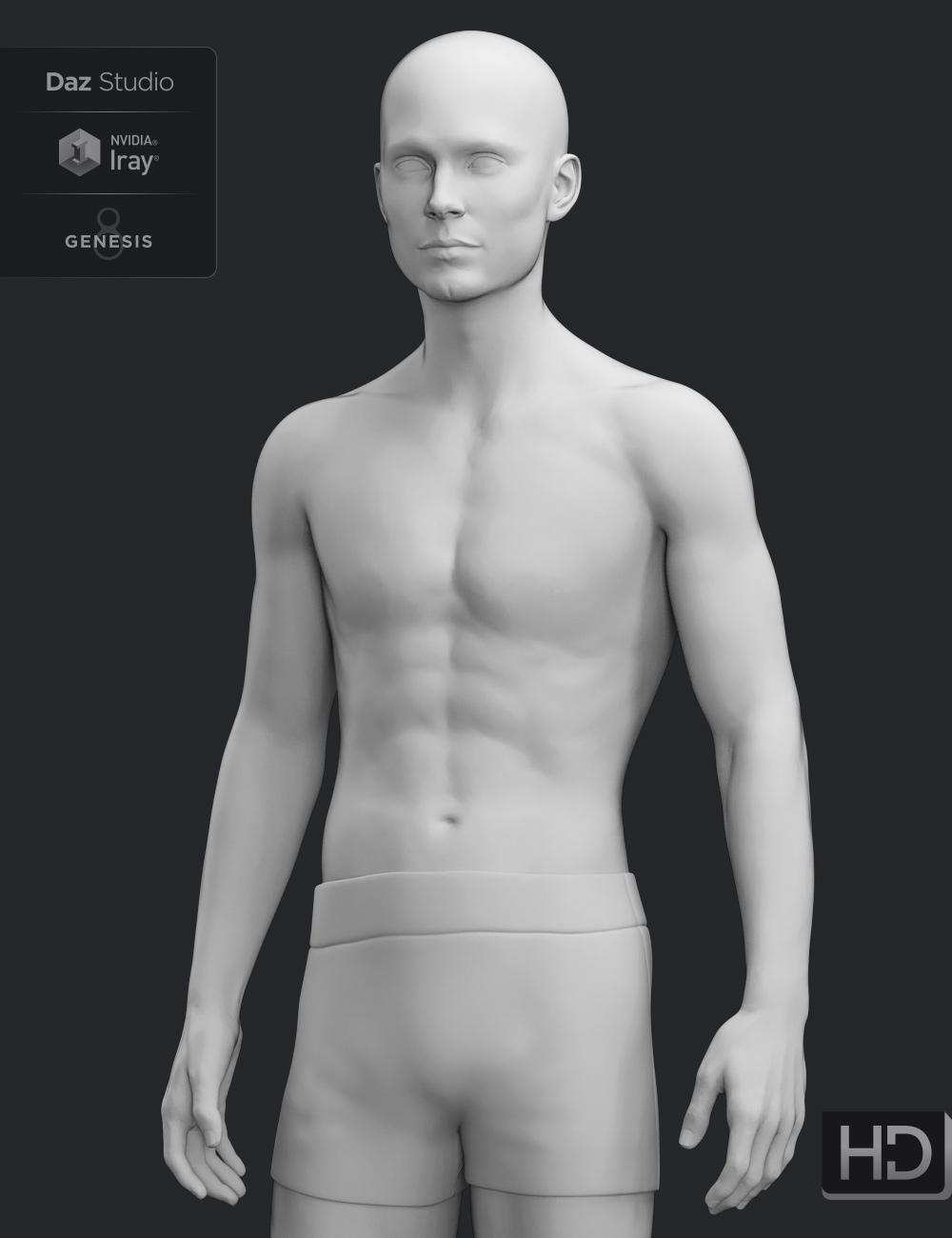 Lucas 8 HD Add-On by: , 3D Models by Daz 3D