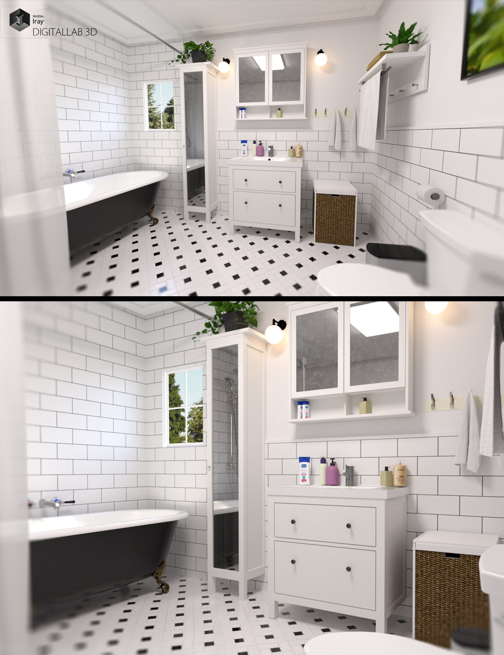 Apartment Bathroom by: Digitallab3D, 3D Models by Daz 3D