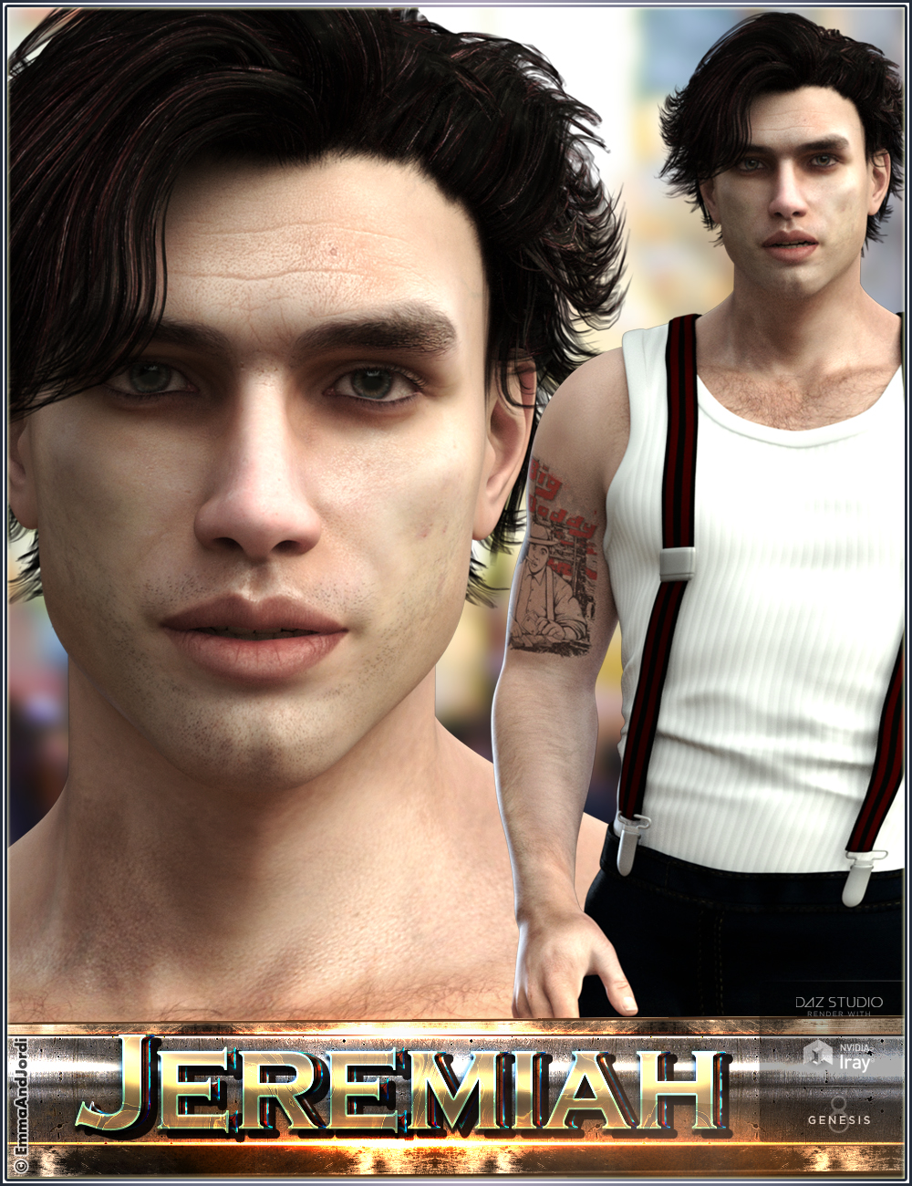 EJ Jeremiah for Michael 8 by: EmmaAndJordi, 3D Models by Daz 3D
