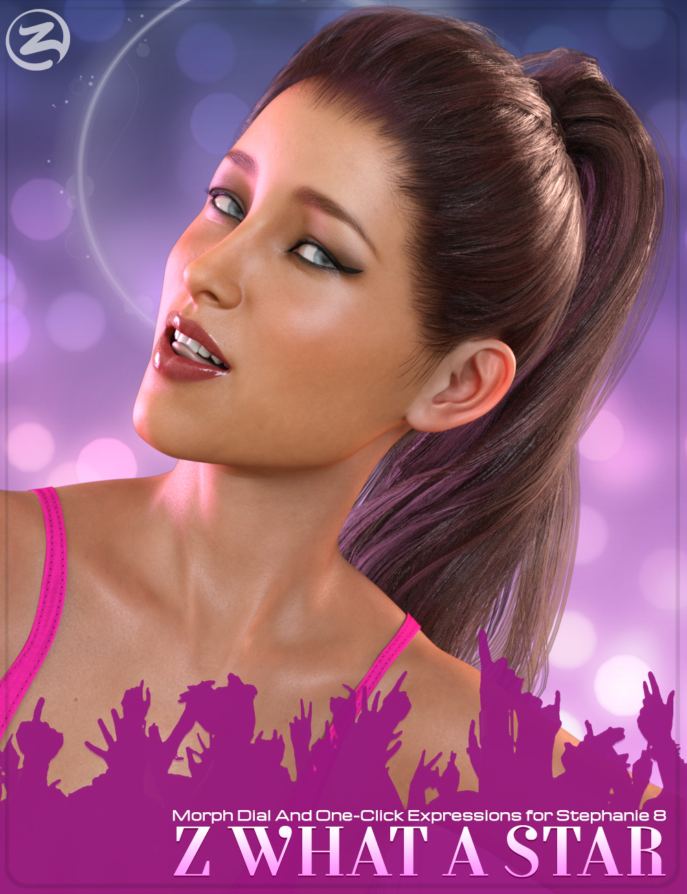 Z What A Star - Dialable and One-Click Expressions for Stephanie 8 by: Zeddicuss, 3D Models by Daz 3D
