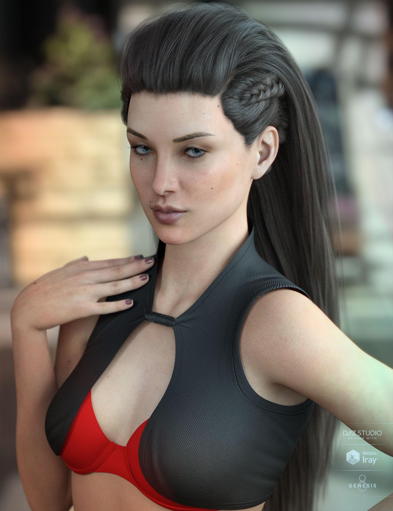 Xelene Hair for Genesis 3 & 8 Female(s) by: AprilYSH, 3D Models by Daz 3D