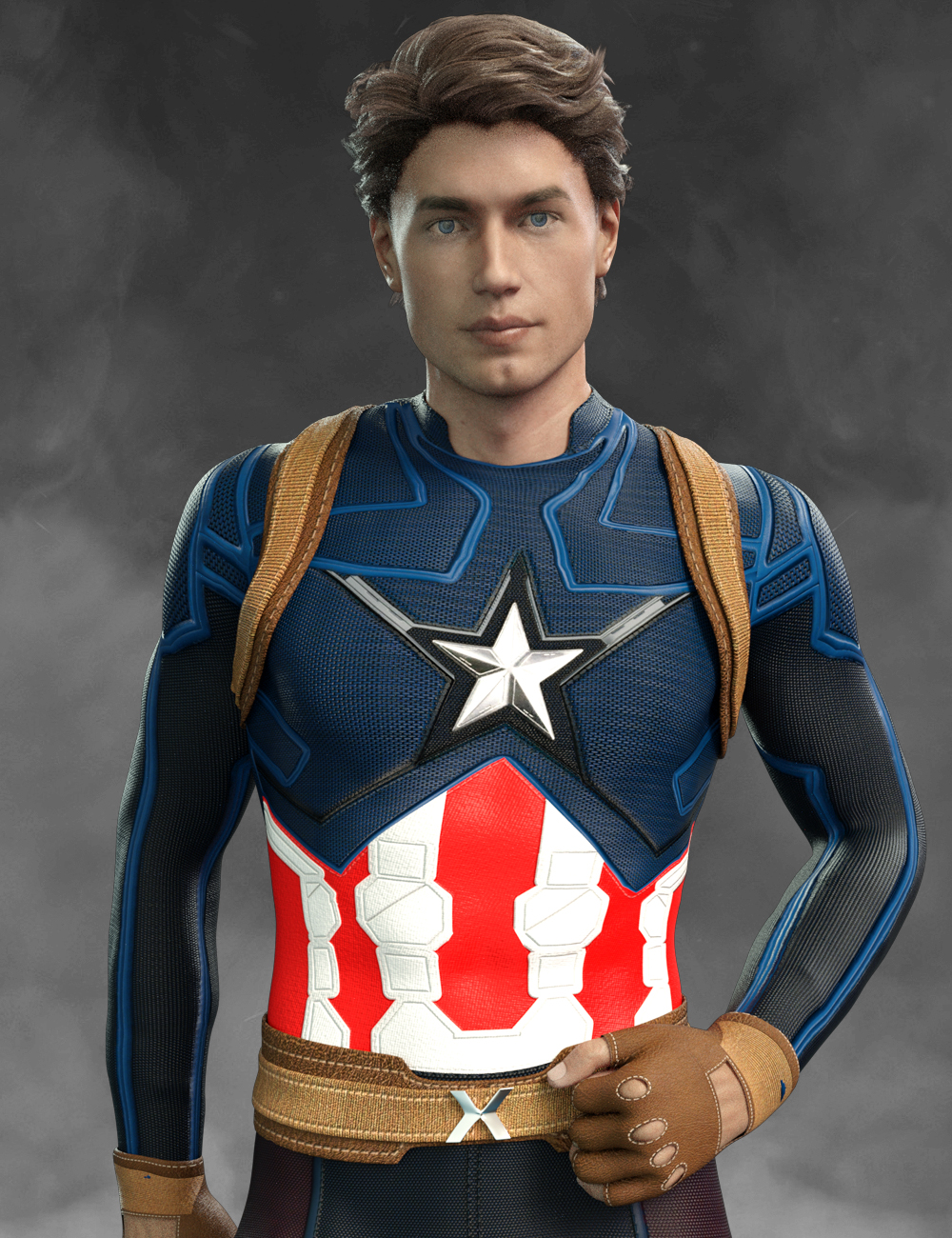 X-Fashion America Outfit for Genesis 8 Male(s) by: Mely3Dxtrart-3d, 3D Models by Daz 3D