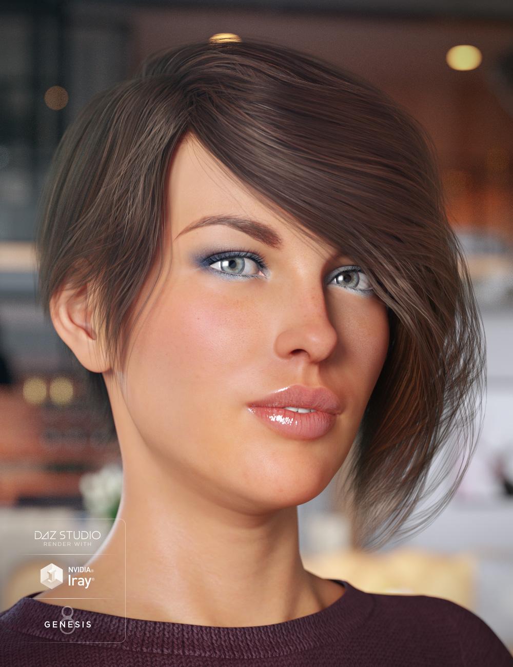 Evony Hair for Genesis 8 Female(s) by: goldtassel, 3D Models by Daz 3D
