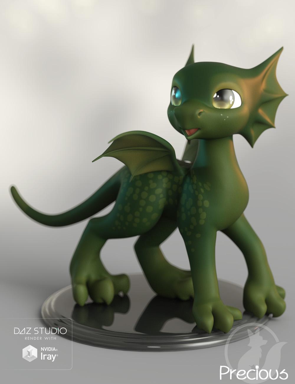 Precious Dragon by: Lady Littlefox, 3D Models by Daz 3D