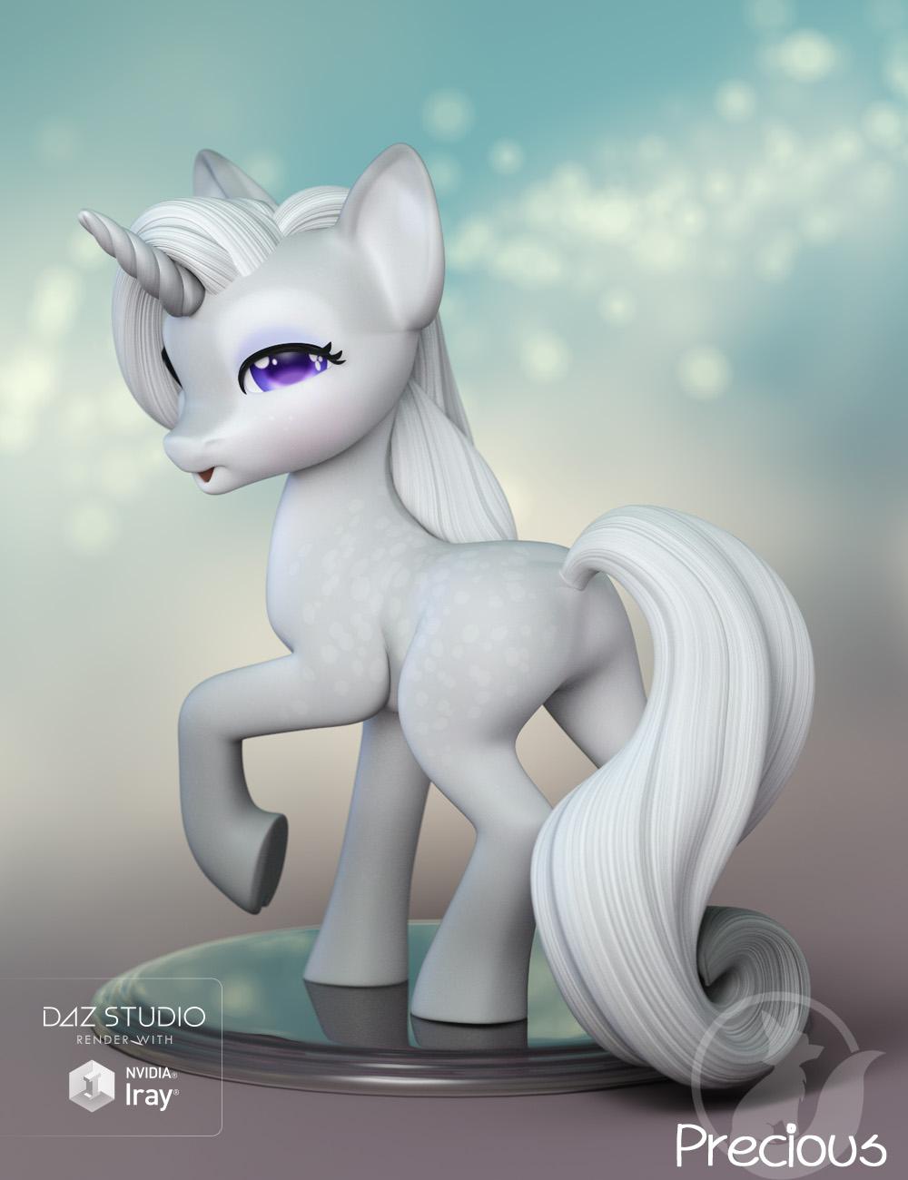 Precious Unicorn by: Lady Littlefox, 3D Models by Daz 3D