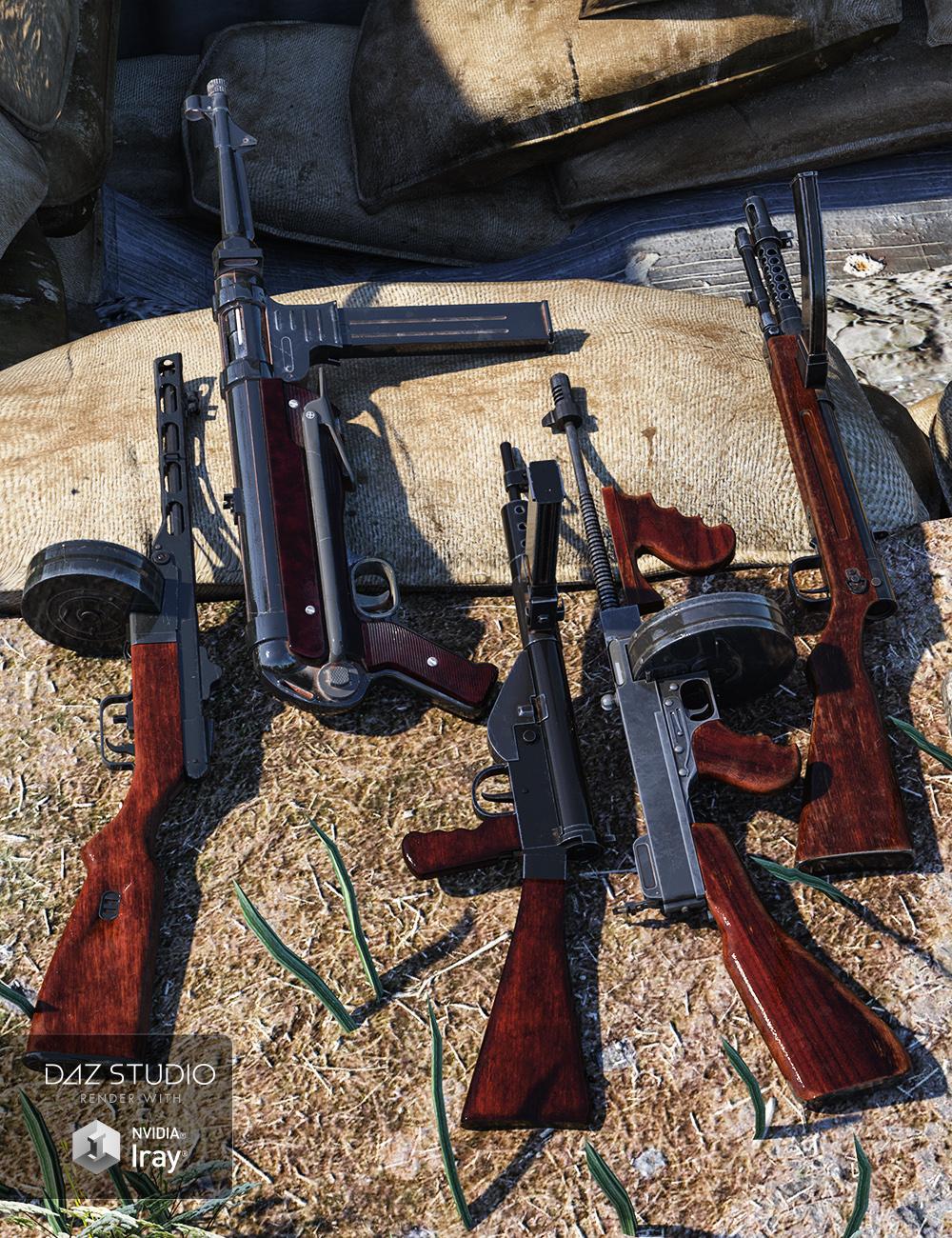 WW2 Submachine Guns by: , 3D Models by Daz 3D