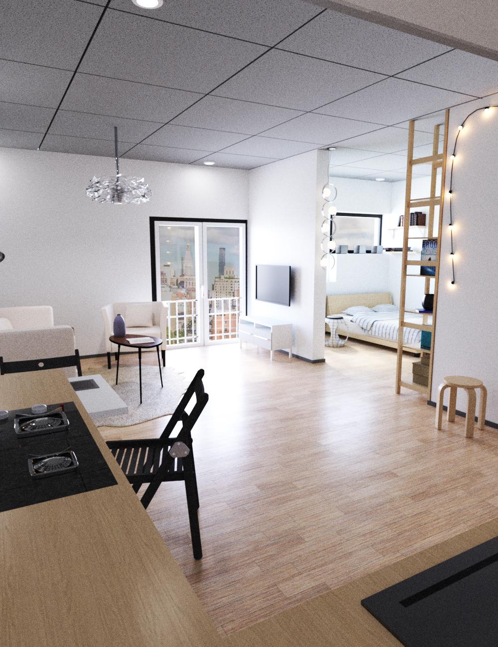 Mini Apartment by: Tesla3dCorp, 3D Models by Daz 3D