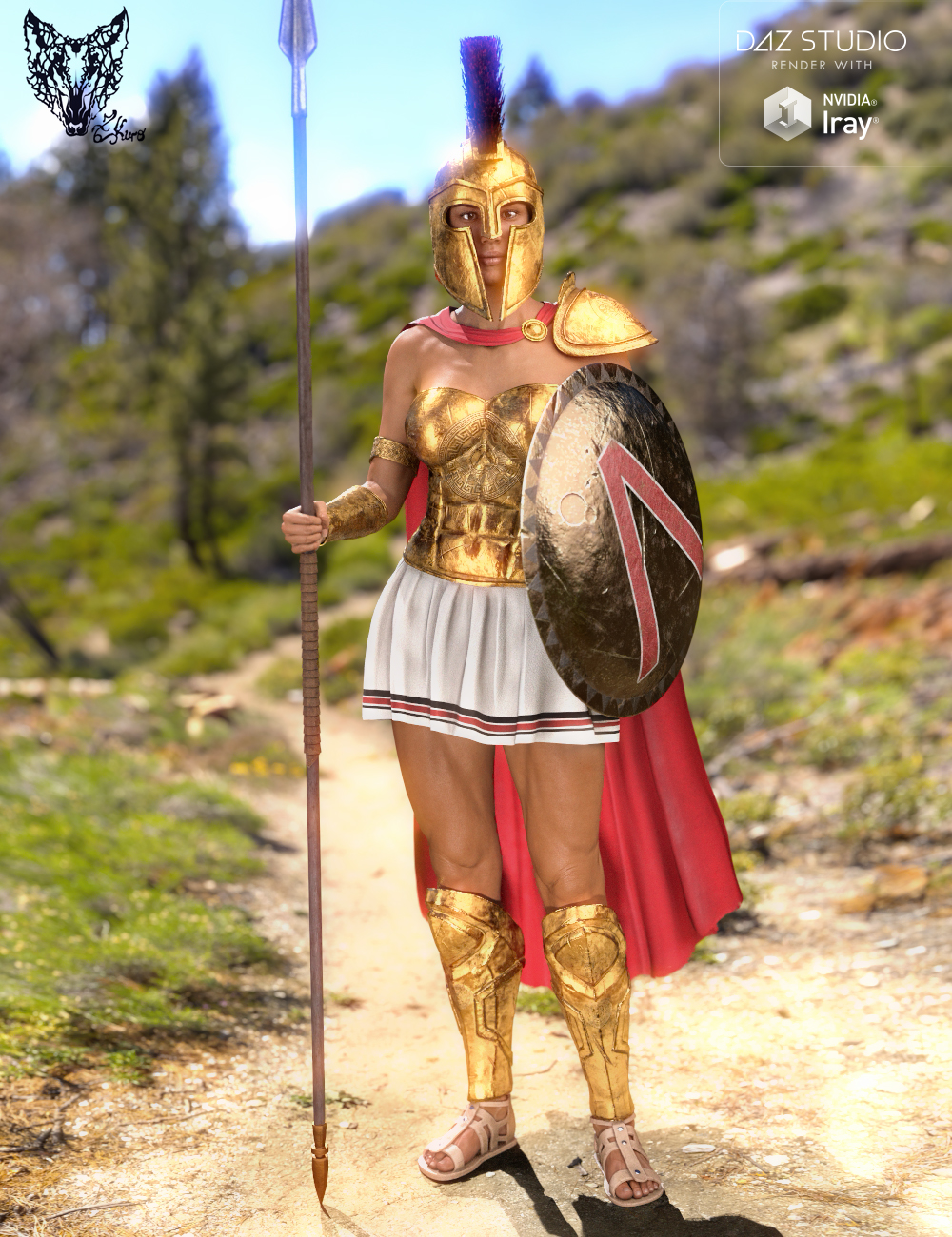 Spartan Armor for Genesis 3 and 8 Female(s) by: ZKuro, 3D Models by Daz 3D