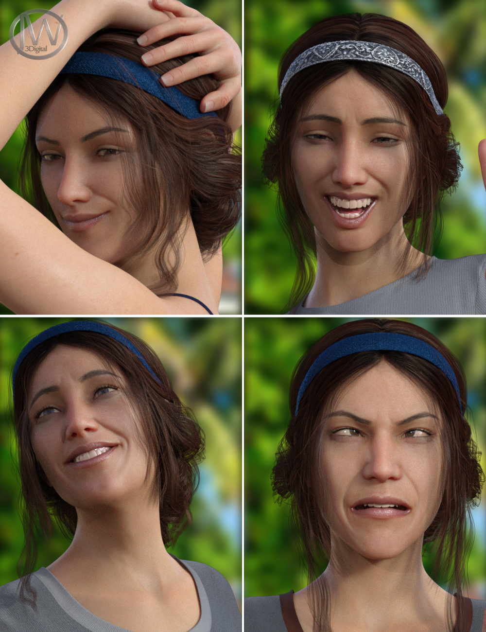 A Good Day - Dialable Expressions for Genesis 8 Female by: JWolf, 3D Models by Daz 3D