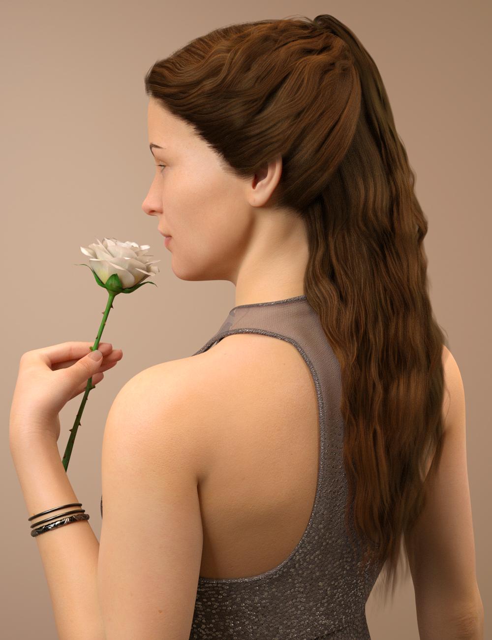 Brielle Hair for Genesis 8 Female(s) by: Toyen, 3D Models by Daz 3D