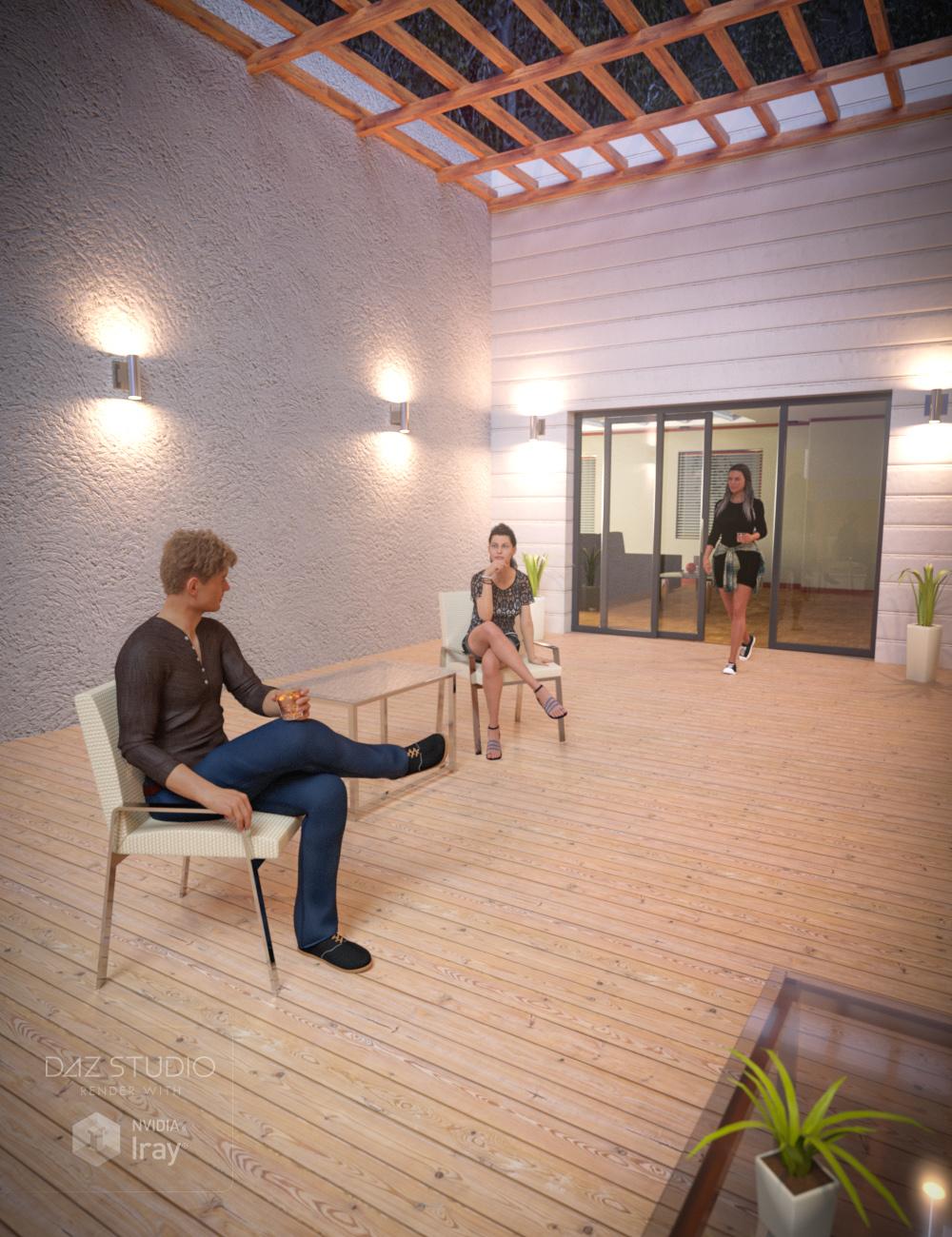 Back Door Walkway by: , 3D Models by Daz 3D