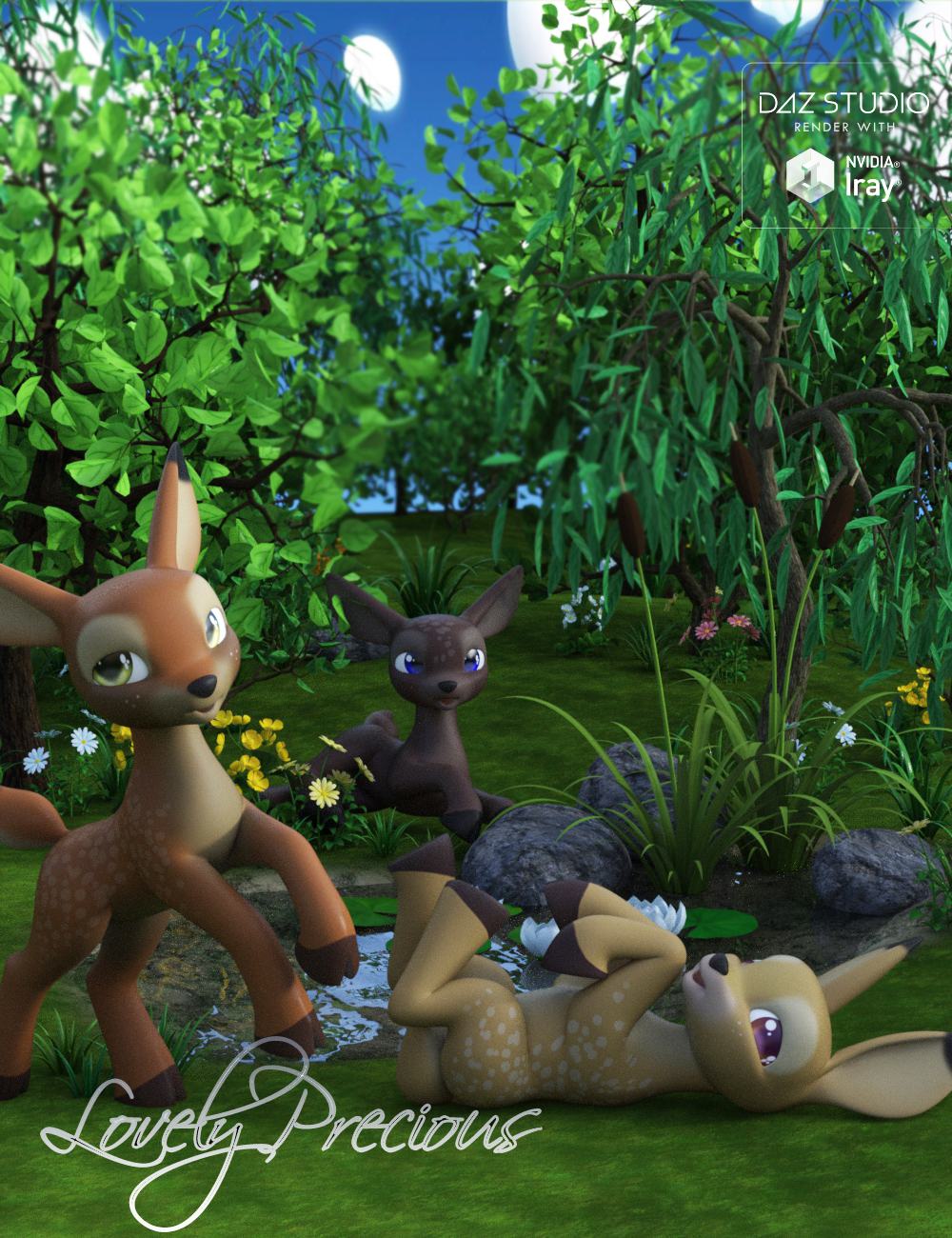 Lovely Precious Vol 01 -  Deer by: Muscleman, 3D Models by Daz 3D