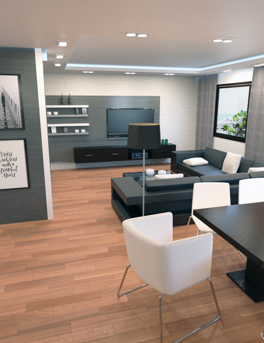 Modish Apartment by: Tesla3dCorp, 3D Models by Daz 3D
