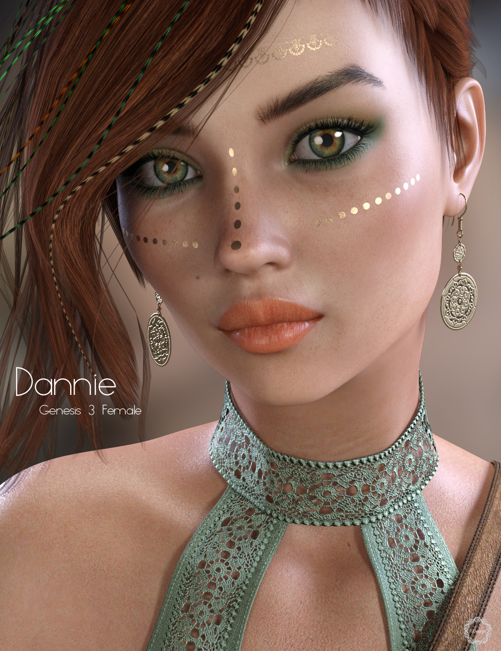 P3D Danny for Genesis 3 and 8 Female by: P3Design, 3D Models by Daz 3D