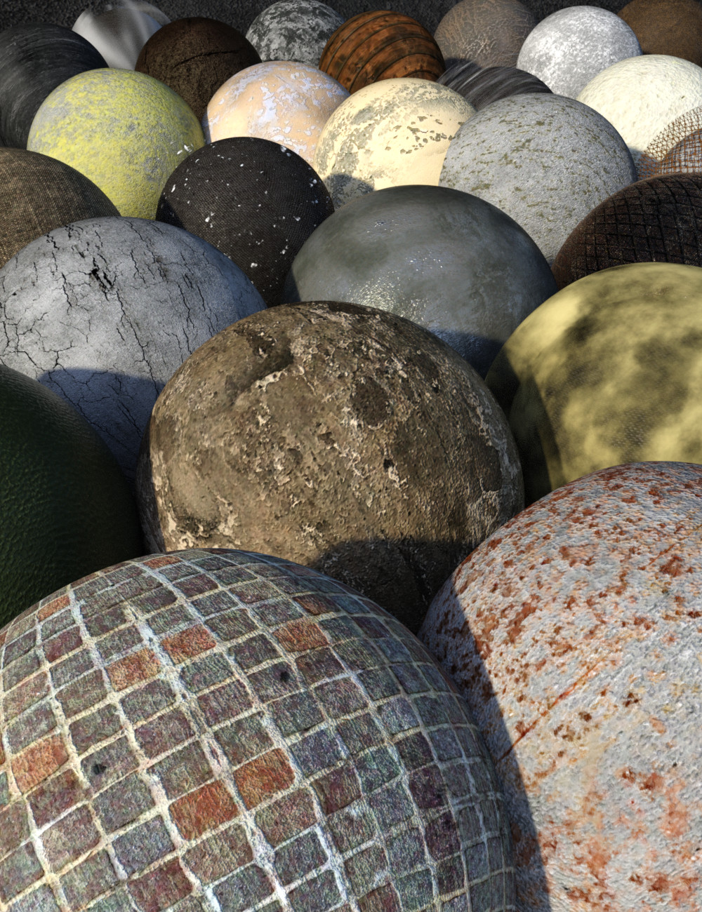 FSL Weathered Shaders for Iray by: Fuseling, 3D Models by Daz 3D
