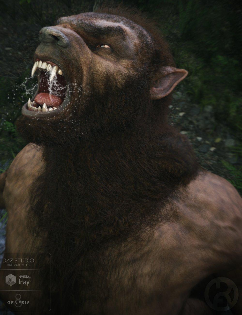 Werwulf for Genesis 8 Male(s) by: RawArt, 3D Models by Daz 3D