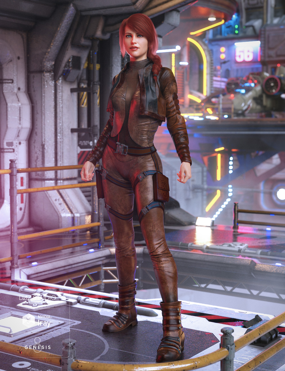 Sky Jumper Outfit for Genesis 8 Female(s) by: Barbara BrundonDemianUmblefugly, 3D Models by Daz 3D