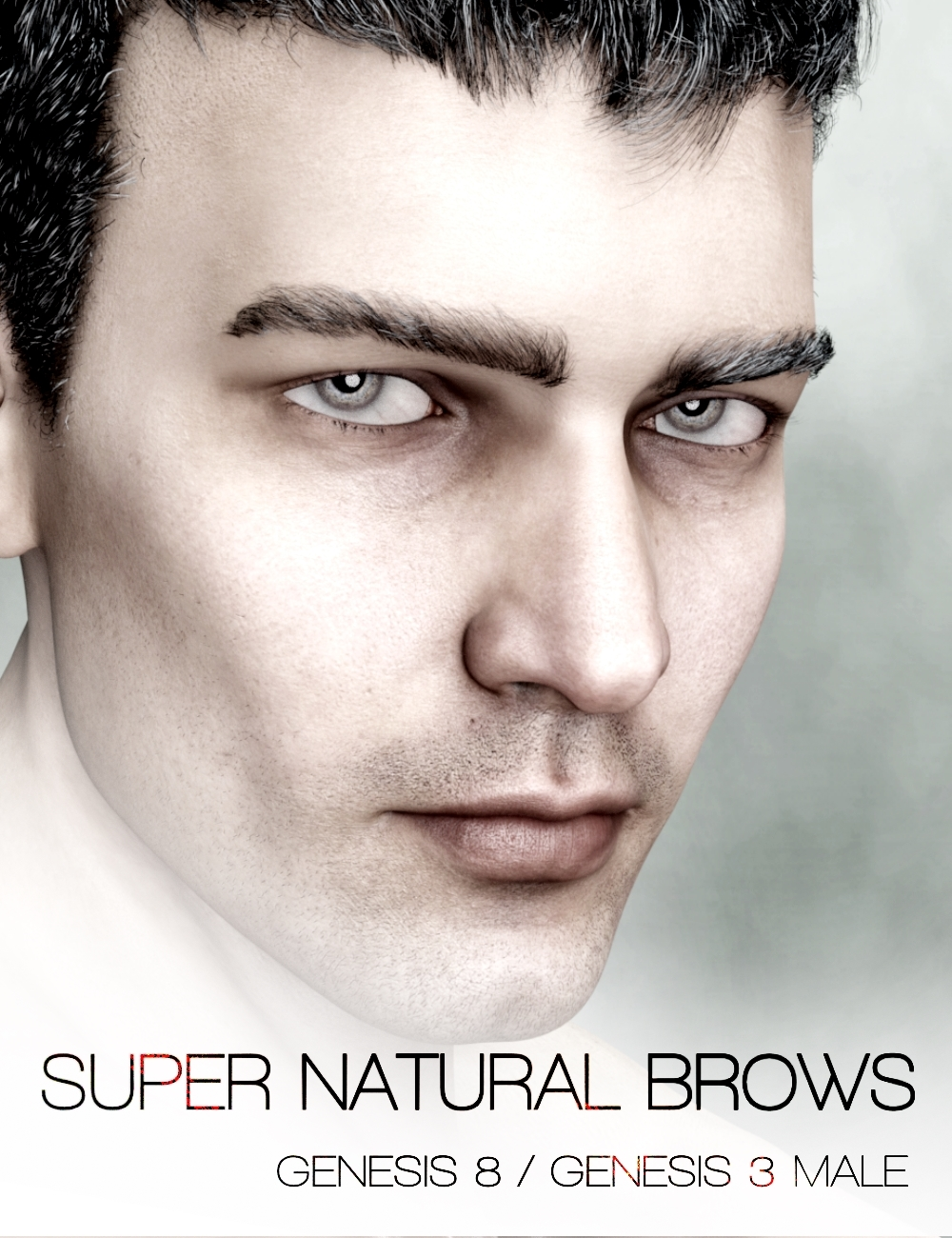 Super Natural Brows Merchant Resource for Genesis 8 and 3 Male by: RedzStudio, 3D Models by Daz 3D