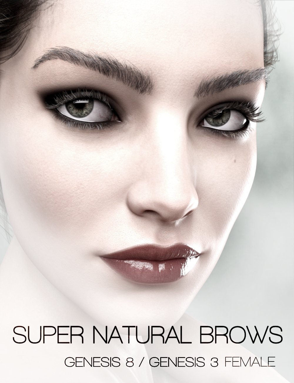 Super Natural Brows Merchant Resource for Genesis 8 and 3 Female by: RedzStudio, 3D Models by Daz 3D