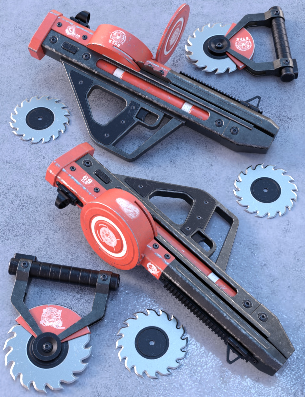 Blade Weapons by: Nightshift3D, 3D Models by Daz 3D