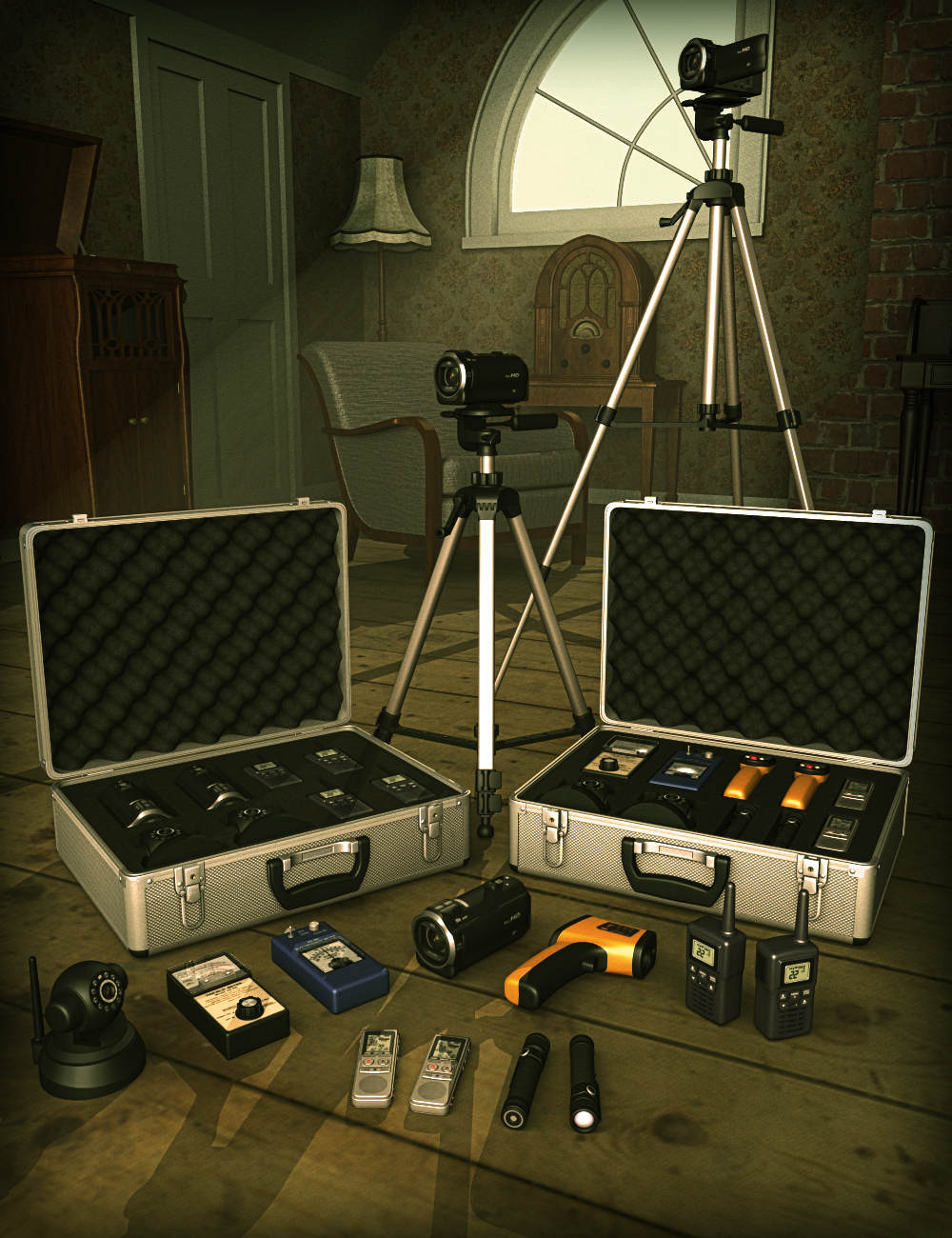 Ghost Hunter Equipment by: hypnagogia, 3D Models by Daz 3D