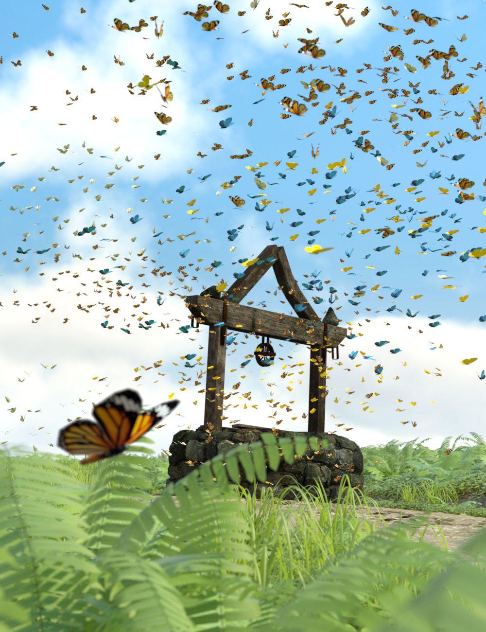 The Flock Butterflies by: DzFire, 3D Models by Daz 3D
