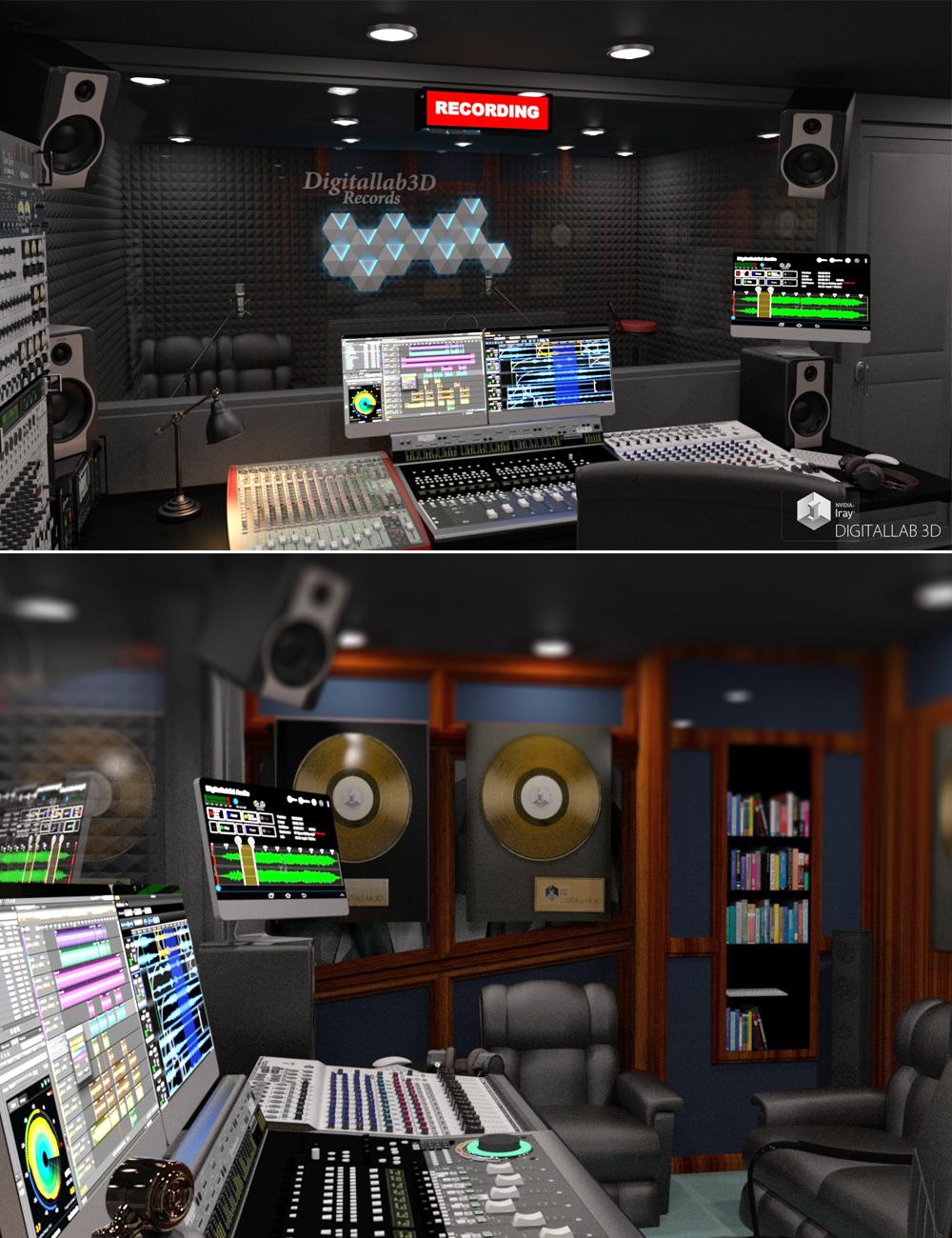 Digitallab3D Recording Studio by: Digitallab3D, 3D Models by Daz 3D