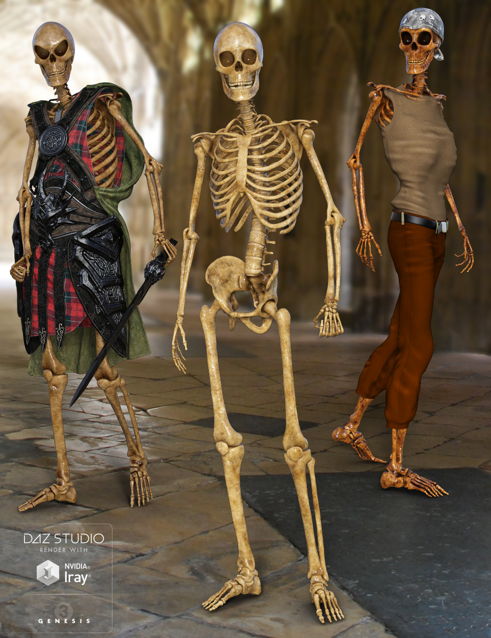 Midnight Skeleton by: midnight_stories, 3D Models by Daz 3D