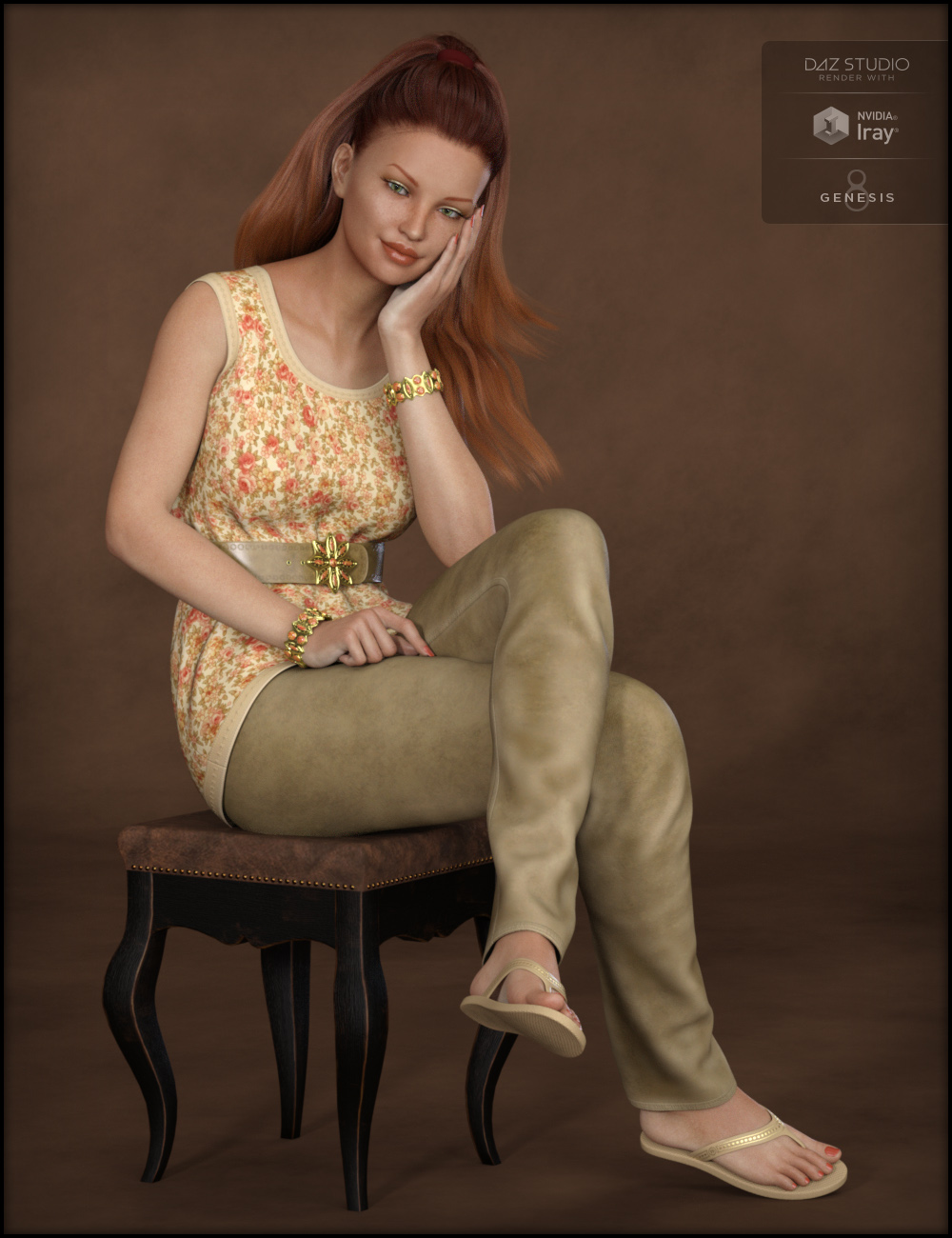 Blooming Outfit for Genesis 8 Female(s) by: Fisty & Darc, 3D Models by Daz 3D