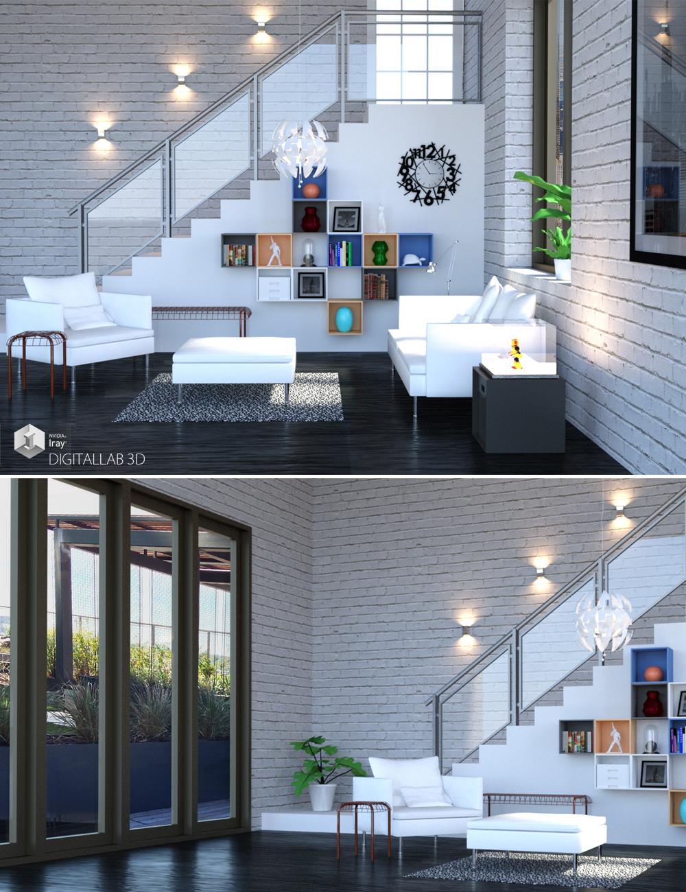 California Living Room by: Digitallab3D, 3D Models by Daz 3D