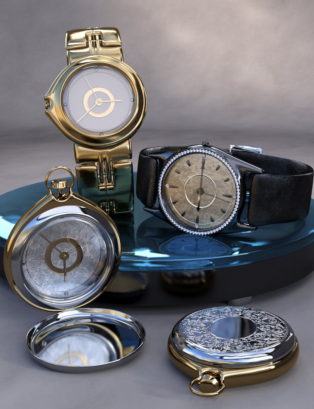 Luxury Watches for Genesis 8 Male(s) by: Titan XiVirtual_World, 3D Models by Daz 3D
