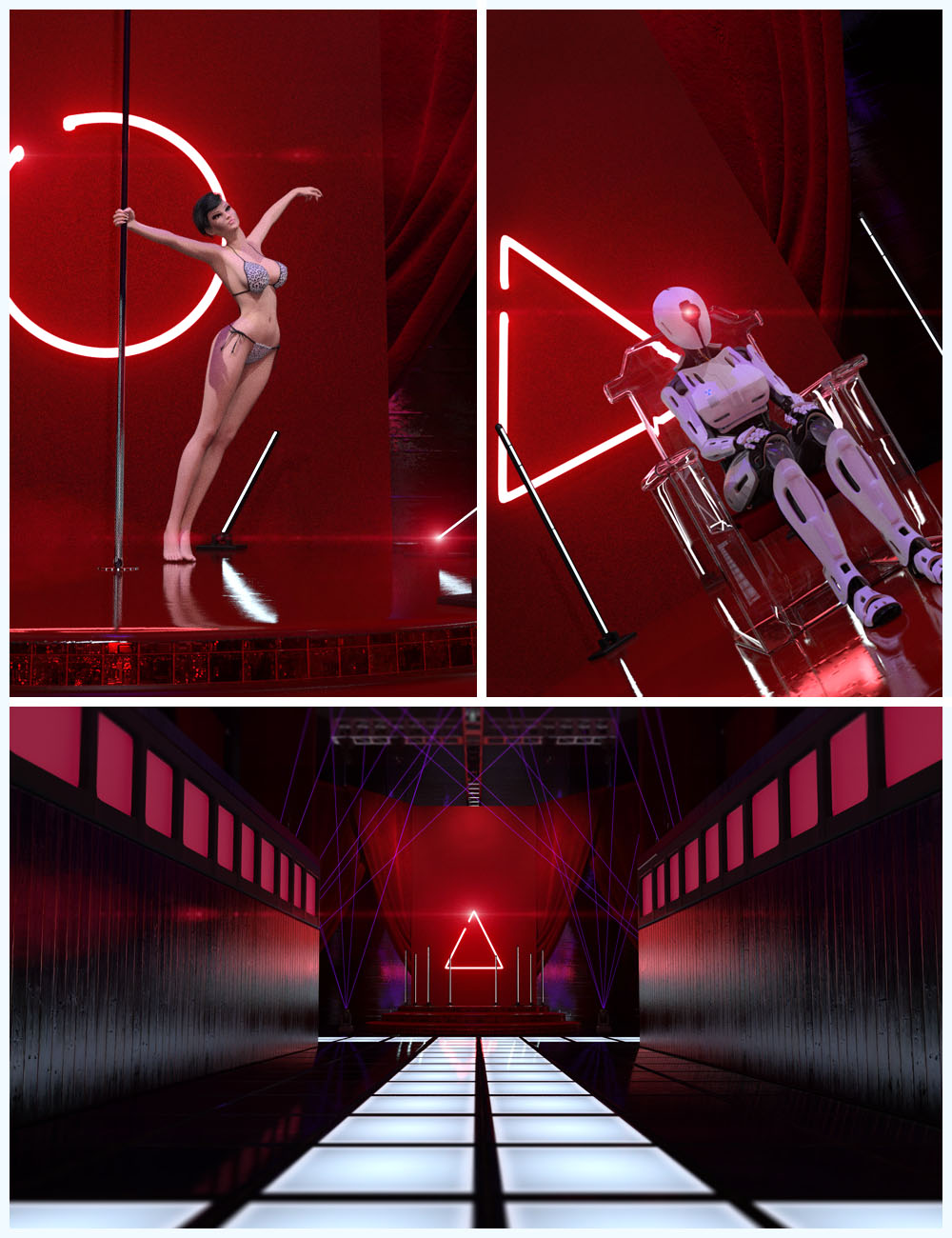 Techno Render Room by: Studio360, 3D Models by Daz 3D