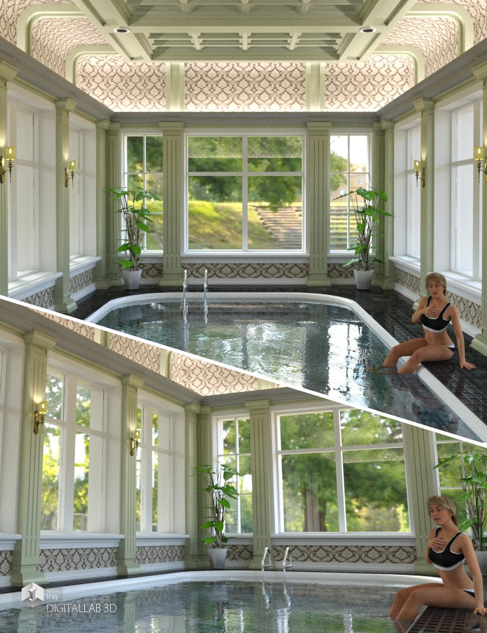 Bel Air Pool by: Digitallab3D, 3D Models by Daz 3D