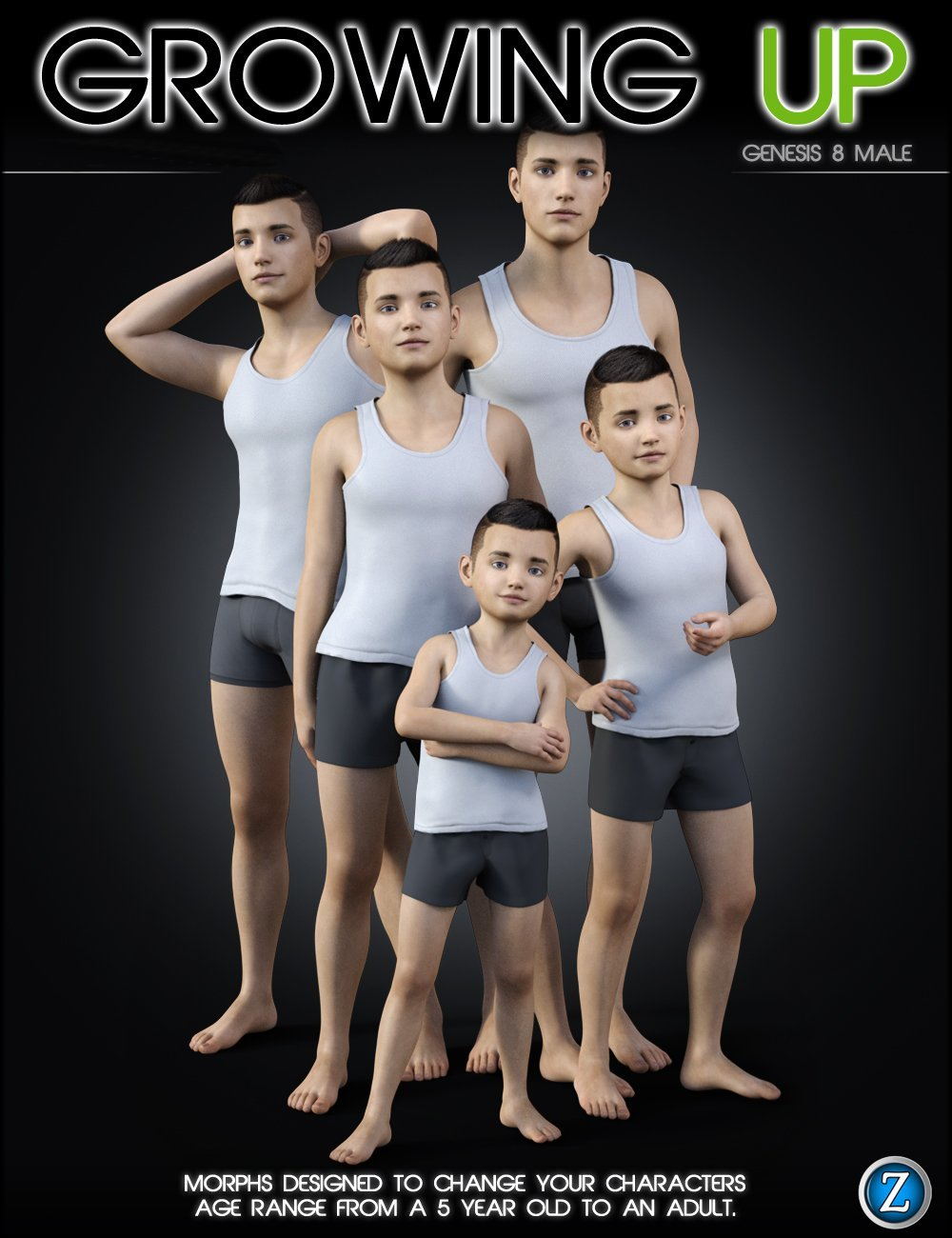 Growing Up for Genesis 8 Male(s) by: Zev0, 3D Models by Daz 3D