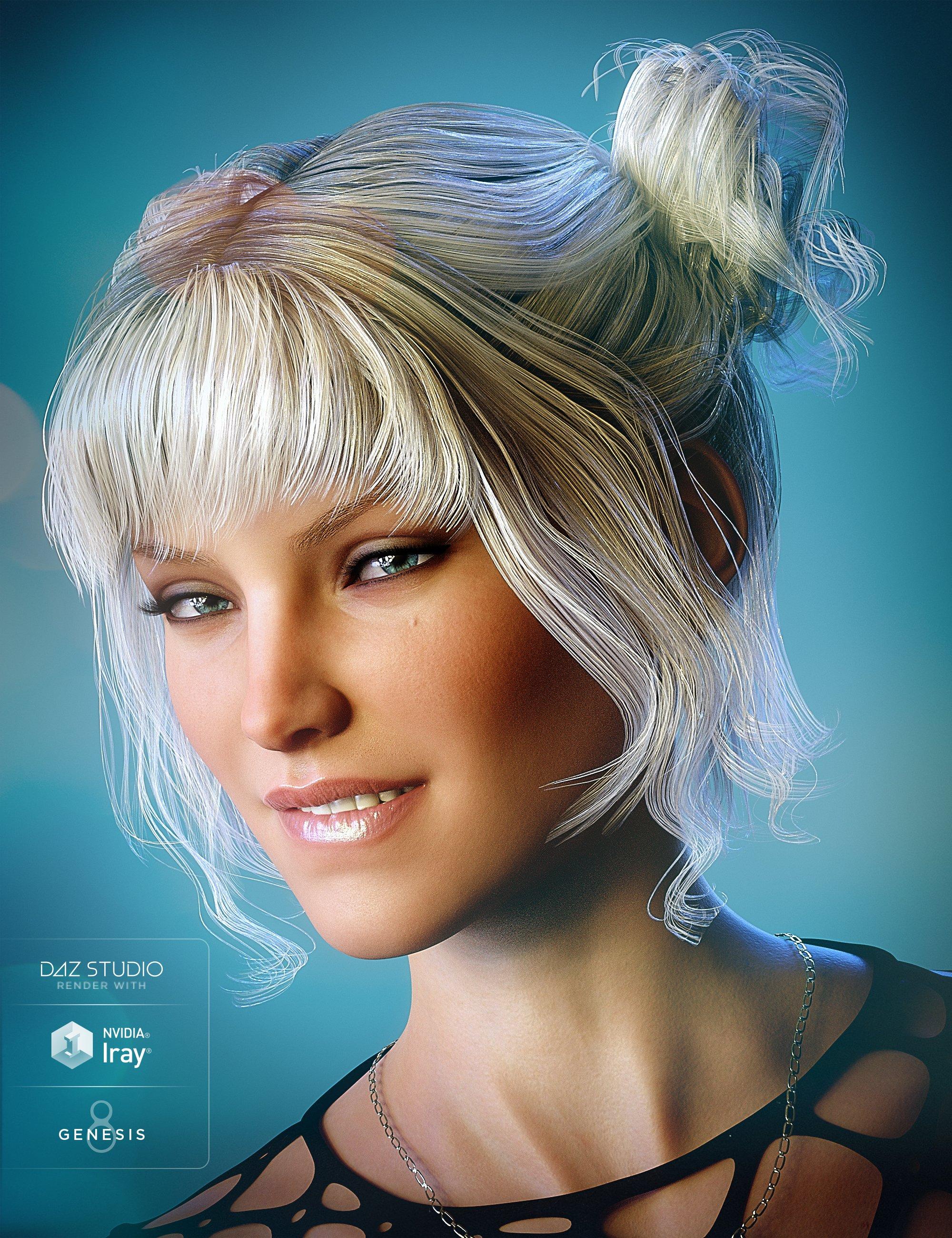 Pony Knots for Genesis 8 Female(s) by: goldtassel, 3D Models by Daz 3D