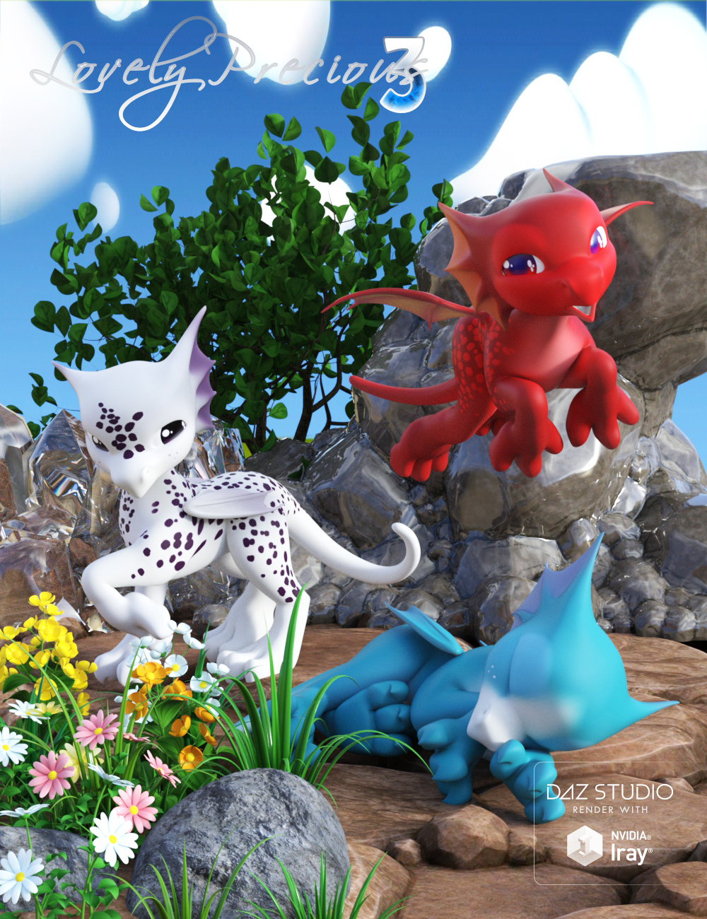 Lovely Precious Vol 03 - Dragon by: Muscleman, 3D Models by Daz 3D