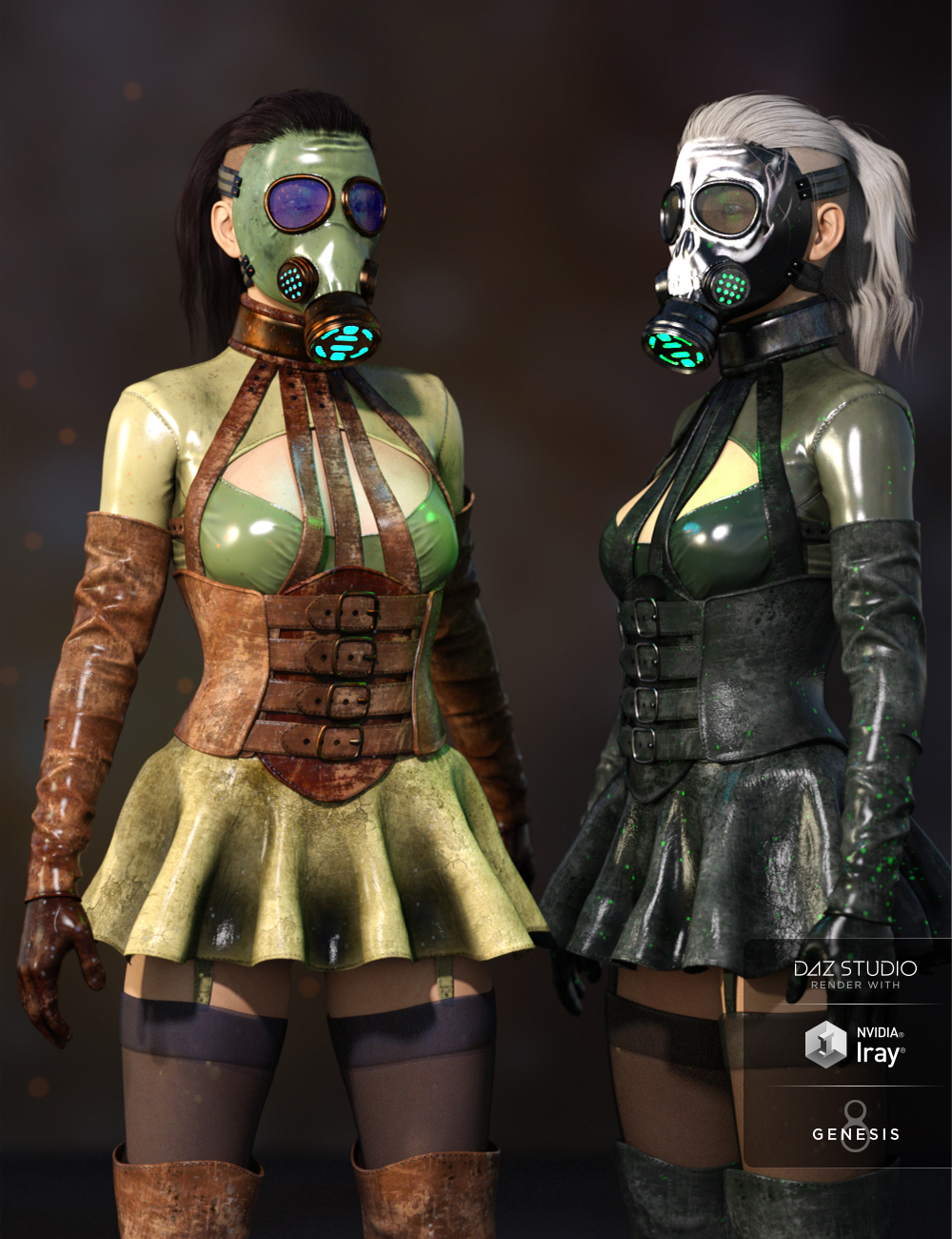 Sasha Outfit Textures by: Demian, 3D Models by Daz 3D