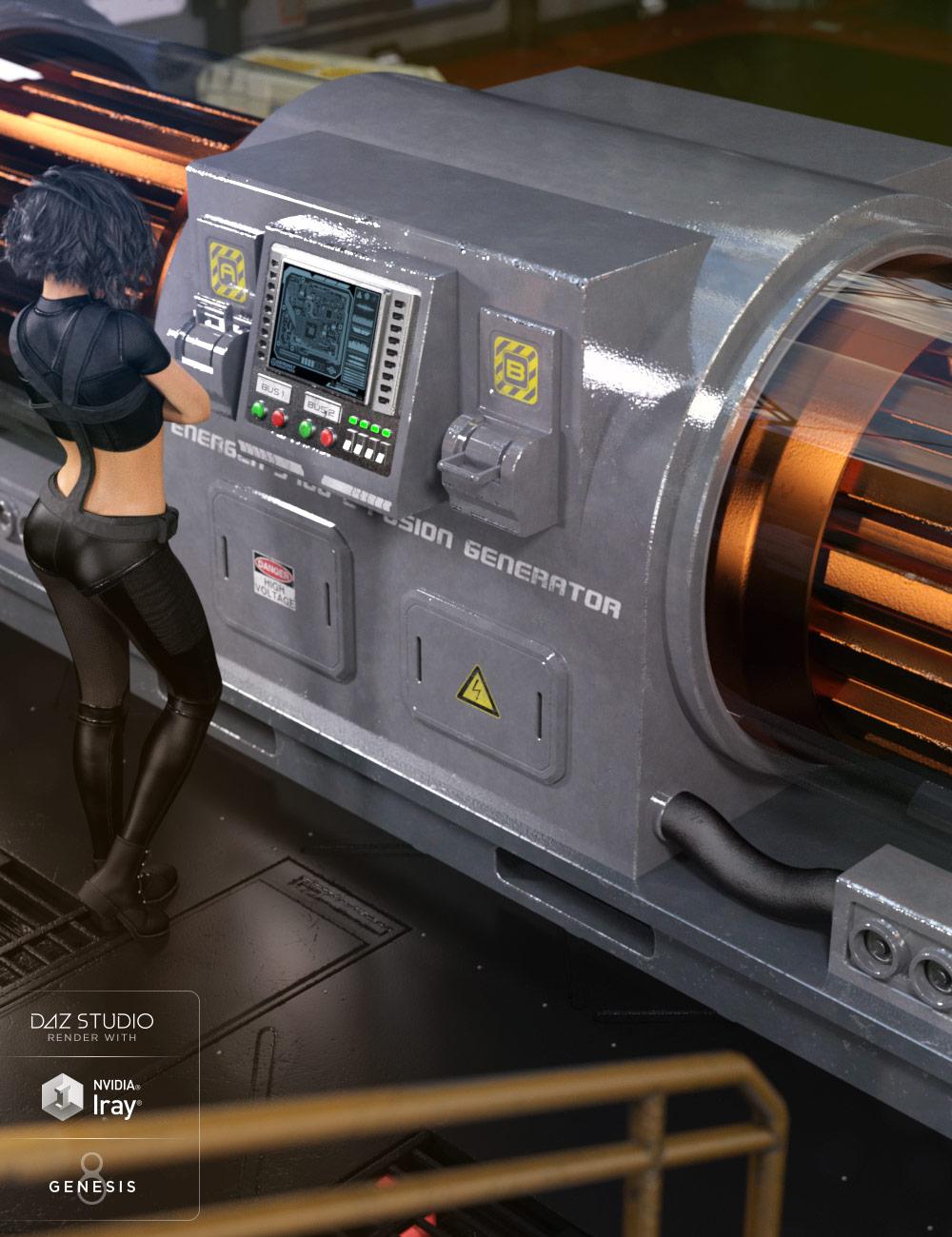 Sci-Fi Generator by: Nightshift3D, 3D Models by Daz 3D