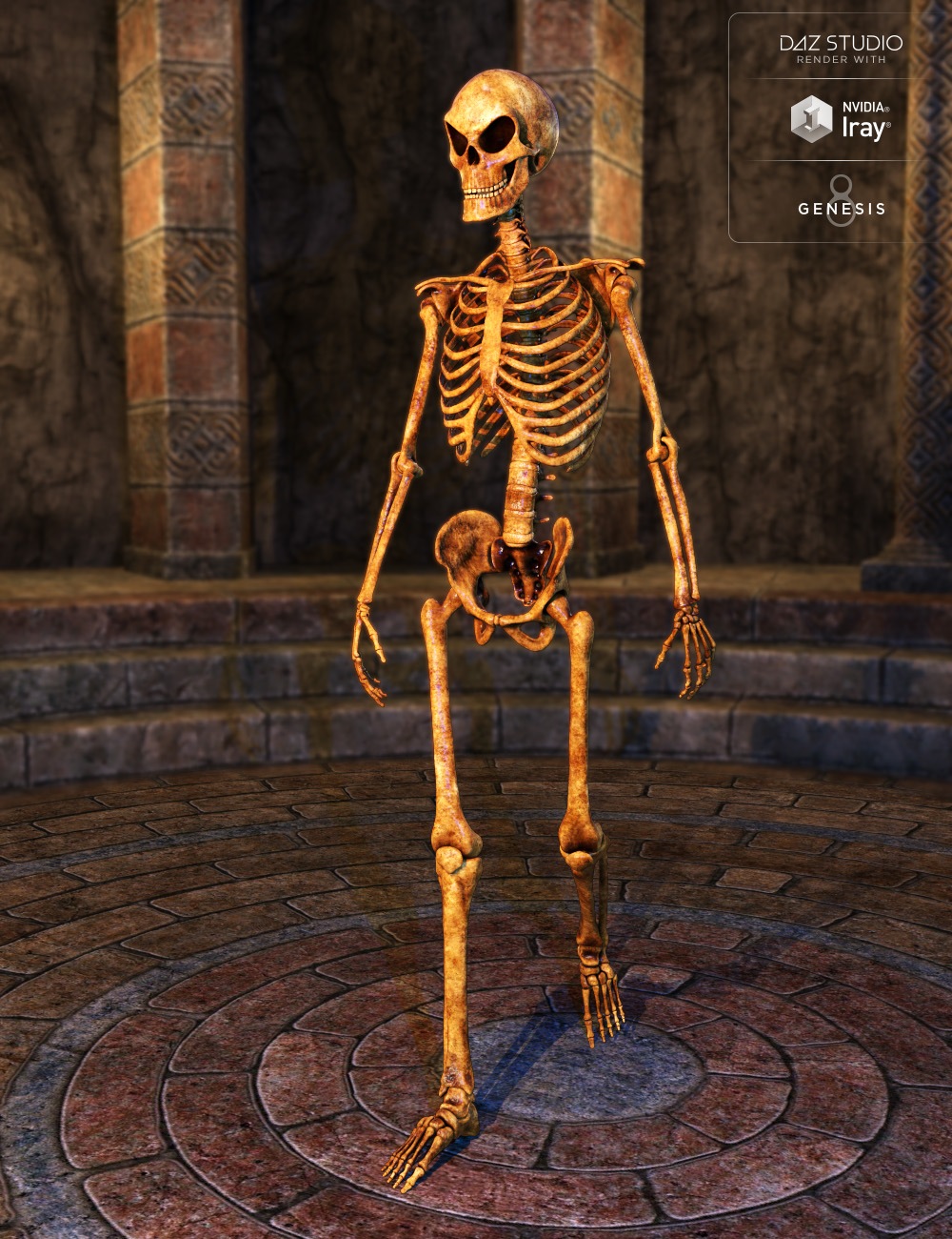 Midnight Skeleton for Genesis 8 Male by: midnight_stories, 3D Models by Daz 3D