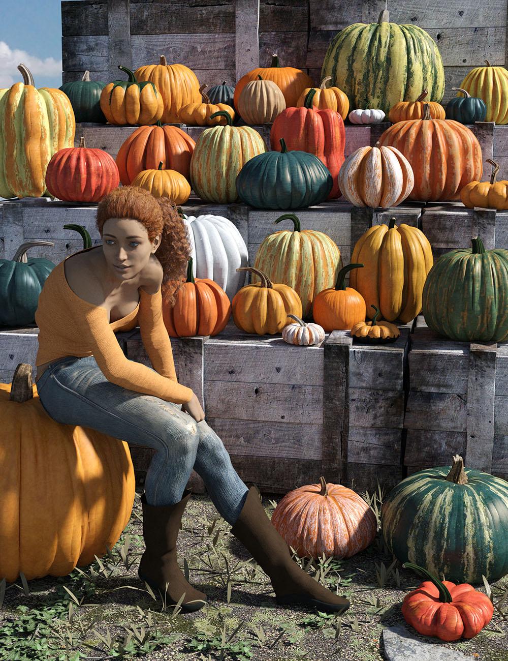 Epic Pumpkin Pack by: Orestes Graphics, 3D Models by Daz 3D