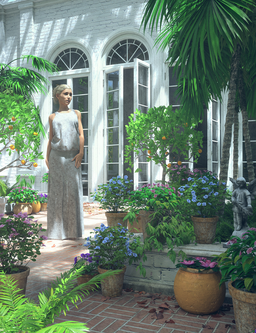 The Private Garden by: Stonemason, 3D Models by Daz 3D