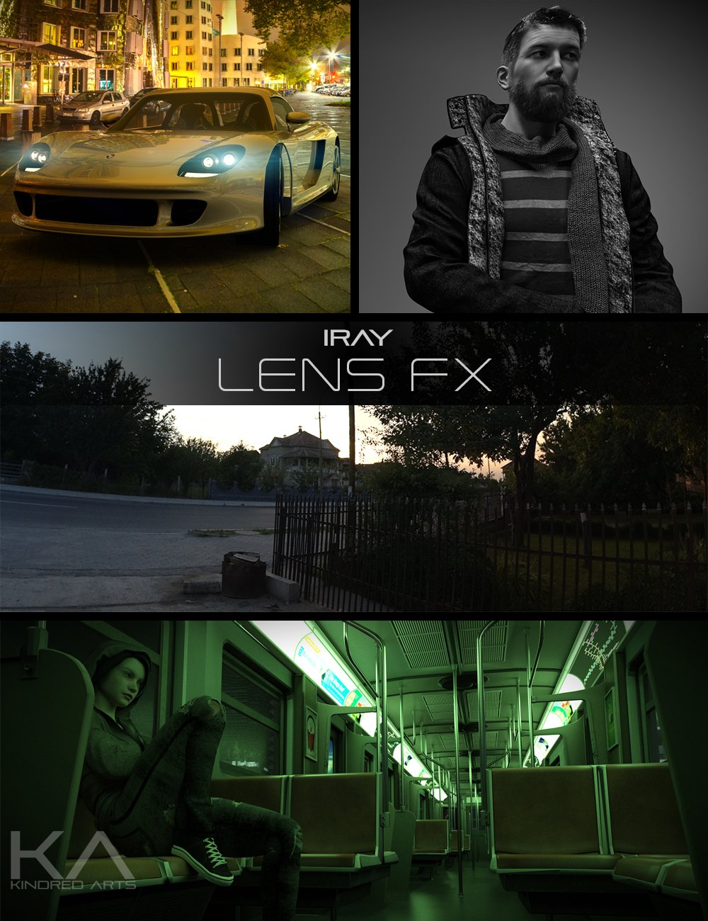 Iray Lens FX by: KindredArts, 3D Models by Daz 3D