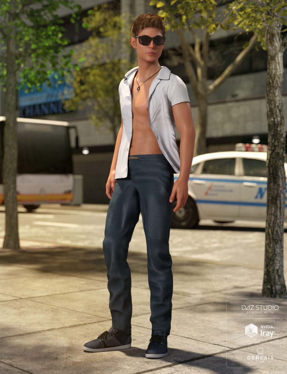 Cool Style Outfit for Genesis 8 Male(s) by: LilflameMada, 3D Models by Daz 3D