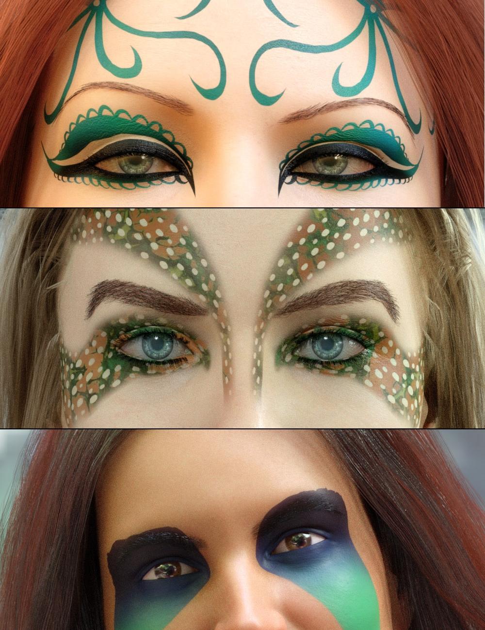 Ultimate Make-Up Fantasy Sets Bundle by: PhilW, 3D Models by Daz 3D