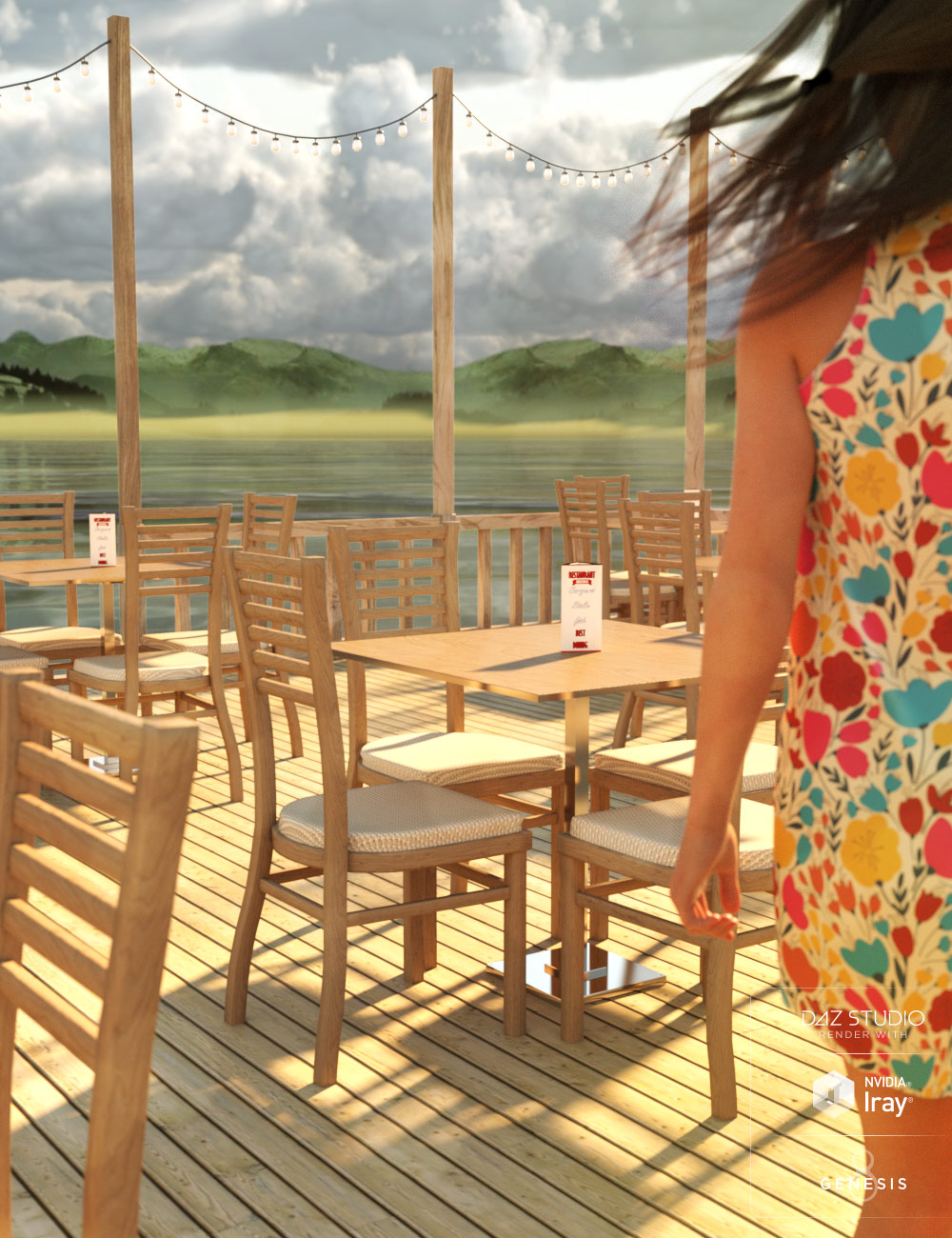 Beach Dining by: , 3D Models by Daz 3D